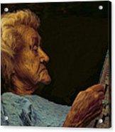 Mother Acrylic Print by Hazel Billingsley