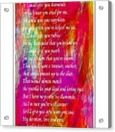 Mother If I Could Give You 2 Acrylic Print