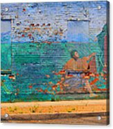 City Mural - Mother Mary Acrylic Print