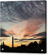 Mother Nature Painted The Sky Over Washington D C Spectacular Acrylic Print