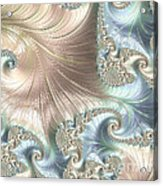 Mother Of Pearl - A Fractal Abstract Acrylic Print