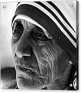 Mother Teresa Close Up Acrylic Print by Retro Images Archive