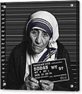 Mother Teresa Mug Shot Acrylic Print