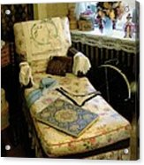 Mother's Chintz Chaise In The Corner Acrylic Print by RC deWinter