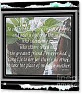 Mother's Day Greeting And Angel Acrylic Print