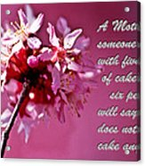 Mother's Day Sharing Acrylic Print