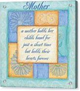 Mother's Day Spa Card Acrylic Print