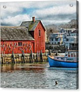 Motif #1 Watches Over The Amie V2 Acrylic Print