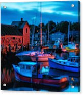 Motif No 1 Rockport Massachusetts Acrylic Print by Thomas Schoeller