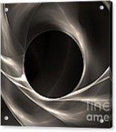 Motion Of Filaments On Black Acrylic Print