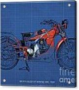 Moto Guzzi Gt Norge 500 1928 Acrylic Print