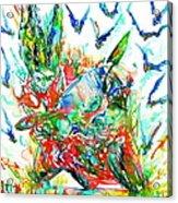 Motor Demon With Bats Acrylic Print