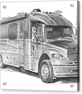 Motor Home Pencil Portrait Acrylic Print