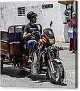 Motorbike Marocco Acrylic Print