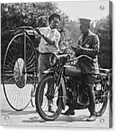 Motorcycle And Velocipede - 1921 Acrylic Print