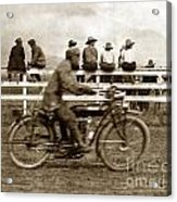 Motorcycle At Salinas California Rodeo Grounds Circa 1910 Acrylic Print