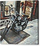 Motorcycle At Philadelphia Eddies Acrylic Print