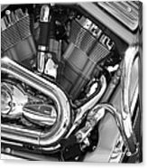 Motorcycle Close-up Bw 1 Acrylic Print