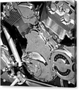 Motorcycle Close-up Bw 2 Acrylic Print