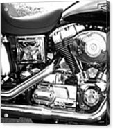 Motorcycle Close-up Bw 3 Acrylic Print