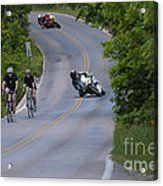Motorcycles And Bicycles Acrylic Print