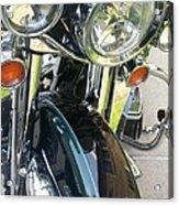 Motorcyle Classic Headlight Acrylic Print