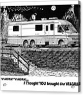 Motorhome Viagra Moonlight R V Camping Acrylic Print