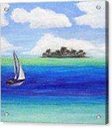 Motu Sailing Acrylic Print