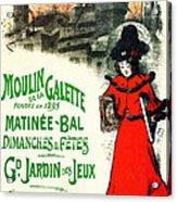 Moulin De La Galette Acrylic Print