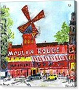 Moulin Rouge Acrylic Print