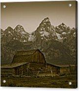 Moulton Barn And Tetons Acrylic Print