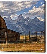 Moulton Barn Panorama - Grand Teton National Park Wyoming Acrylic Print
