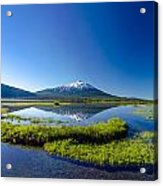 Mount Bachelor And Sparks Lake Acrylic Print