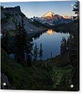 Mount Baker Chain Lakes Awakening Acrylic Print
