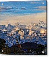 Mount Baldy On A New Years Eve Acrylic Print
