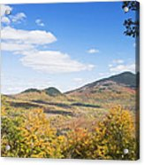 Mount Blue State Park In Fall Weld Maine Acrylic Print
