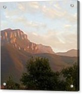 Mount Boney Sunset In Oils Acrylic Print