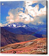 Mount Chicon Rainbow In Andes Acrylic Print