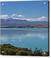 Mount Cook and Lake Pukaki panorama Acrylic Print