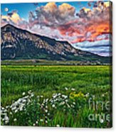 Mount Crested Butte Summer Sunset Acrylic Print