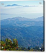 Mount Diablo From Mount Tamalpias-california Acrylic Print