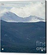 Mount Evans In Snow Acrylic Print
