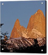 Mount Fitz Roy At Sunrise Acrylic Print