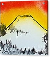 Mount Fuji At Daybreak Acrylic Print