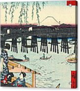 Mount Fuji From Ryogoku 1858 Acrylic Print