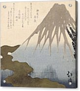 Mount Fuji Under The Snow Acrylic Print by Toyota Hokkei