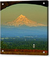 Mount Hood Framed Acrylic Print by DerekTXFactor Creative