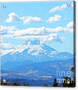 Mount Hood In The Clouds Acrylic Print