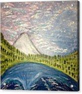 Mount Hood Night Sky Acrylic Print