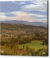 Mount Hood Over Sandy River Valley Acrylic Print